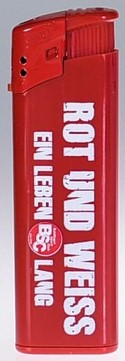 Feuerzeug rot-weiss
